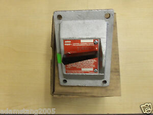 New Crouse Hinds Dsd935 Explosion Proof On off Switch Cover Only