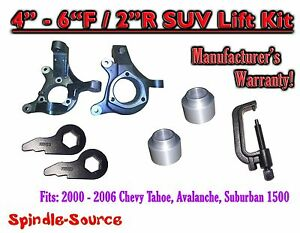 00 06 Chevy Suburban Tahoe Avalanche 1500 4 6 Lift Kit Spindle Torsion Tool