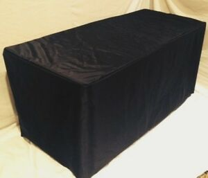 8 Ft Fitted Table Cover Waterproof Table Cover Patio Outdoor Indoor Trade Show
