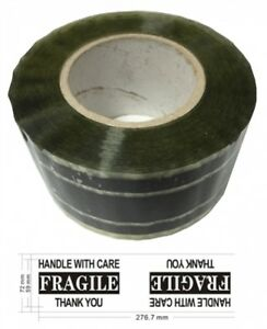 10 Industrial Carton Sealing Tape Fragile Handle W Care 3 X 220 Yds 2 2 Mil