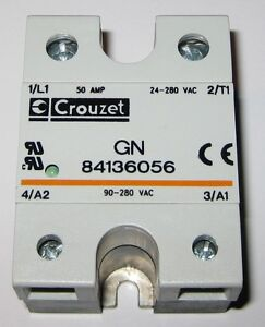 Crouzet Solid State Relay 280v Ac 50a Gn 8413 90 280 Vac Control 50amp