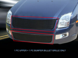 Fits 2006 2009 Ford Fusion Black Billet Grille Front Combo Grill