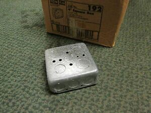 Raco Outlet Box 192 4 Square 1 1 2 Deep 1 2 3 4 Kos Box Of 48 New Surplus