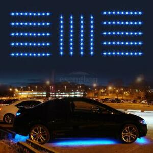14pcs Bright Blue 3 Mode 3528 Led Underglow Under Light Neon Light Strip Bar Kit