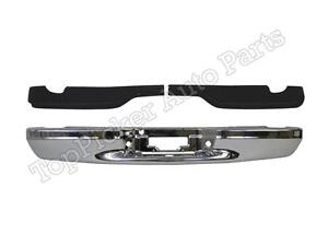 Rear Bumper Face Bar Chrome Step Pad For 1997 2003 F150 Flareside Super Crew Cab