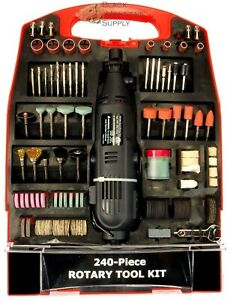Rotary Tool Kit Electric Mini Die Grinder Kit In A Case 240 PC Variable Speed