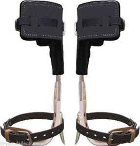 Climb Right Aluminum Tree Climbers Spur Set W strap t Pads long Tree Gaffs Usa