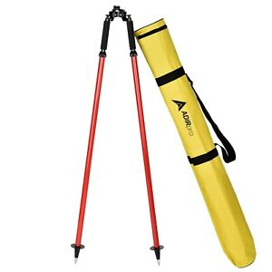Adirpro Thumb Release Red Range Prism Pole Bipod 760 01 Surveying Seco Topcon