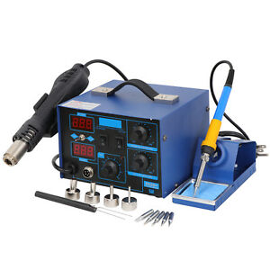 Great 2 1 862d Smd Soldering Iron Hot Air Rework Station Led Display