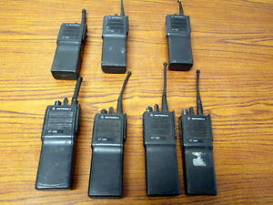 Lot Of 7 Motorola Ht1000 Uhf 16 Channel Radios