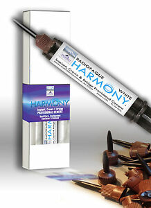 Implant Cement Harmony White Radiopaque dual Cure 9 Gm 10 Tips Made In Usa