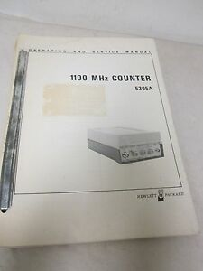 Hewlett Packard 1100 Mhz Counter 5305a Operating And Service Manual