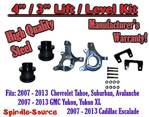 07 13 Chevy Tahoe Gmc Yukon 1500 Suv 4 3 Full Lift Kit 2wd Spindles
