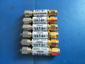 Lot Of 6 Mini circuits 15542 Vat 6 6 Db Attenuator 50 Ohm