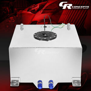 10 Gallon Lightweight Polished Aluminum Gas Fuel Cell Tank Level Sender Foam