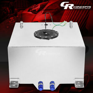 15 5 Gallon Lightweight Polished Aluminum Gas Fuel Cell Tank Level Sender Foam