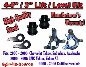 2000 2006 Chevrolet Gmc 1500 4 6 3 Lift Kit Spindles Spacer Suv 00 06