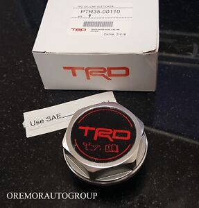 Trd Oil Cap Sequoia Tacoma Tundra Genuine Toyota Factory Accessory Ptr35 00110
