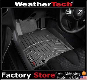Weathertech Floor Mats Floorliner For Nissan 370z 2009 2018 Black