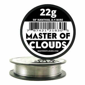 50 Ft 22 Gauge Awg A1 Kanthal Round Wire 0 64mm Resistance A 1 22g Ga 50