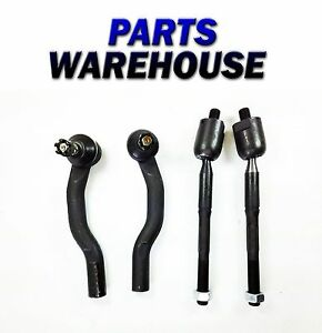 4 Piece Brand New Kit Tie Rod Ends For Toyota Camry Lexus Es330 2 Year Warranty