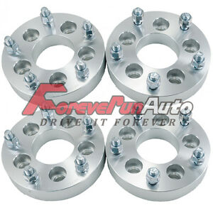 4pc 1 25 5x4 5 To 5x5 5 Wheel Spacers Adapters 1 2 x20 Studs For Lincoln Ford
