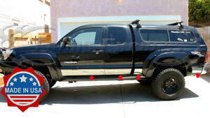 Fit 2005 2015 Toyota Tacoma Extended Cab Short Bed Chrome Rocker Panel Trim W f