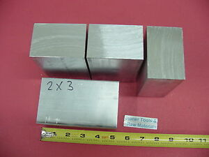 4 Pieces 2 X 3 Aluminum 6061 Flat Bar 5 Long Solid T6511 Mill Stock