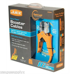 6 Gauge 16 Booster Jumper Cables With Ratcheting Clamps For Top And Side Post