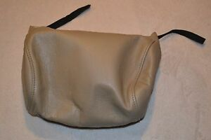 Saab Leather Headrest Cover Beige Pn 4938734