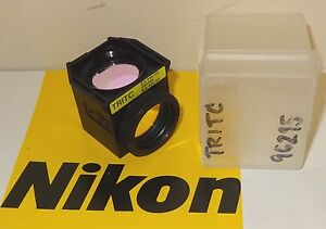 Nikontritc Fluorescent Microscope Filter Cube For Te2000e u s Inverted Scope