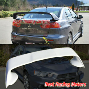 Mr Style Rear Trunk Spoiler Wing Abs Fits 08 17 Mitsubishi Lancer Evo 10 X Fits 2010 Mitsubishi Lancer