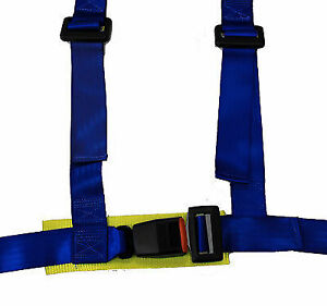 Nrg 4 Point Safety Harness Blue Universal Sbh 100bl