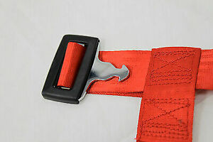 Nrg 4 Point Safety Harness Red Universal Sbh 100rd