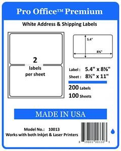 Pro Office Premium Self adhesive Blank Round Corner Shipping Labels Fedex 8 5x11