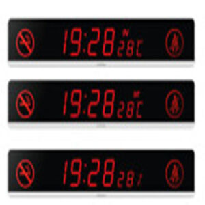 Red Car Led Display Sign Digital Clock Dc24v Automotive Scrolling Display