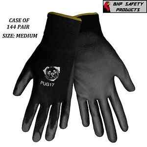 Global Glove Pug17 m Polyurethane Pu Coated Work Gloves Size Medium 144 Pair