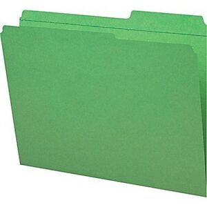 Staples Guide height Reinforced File Folders Letter Green 100 bx Free S h