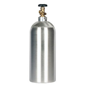 10 Lb Co2 Cylinder New Aluminum Fresh Hydro test Cga320 Valve Free Shipping