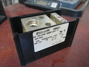 Ferraz Shawmut Power Distribution Block 69031 Line 1000 250mcm Load 6 2 0 14