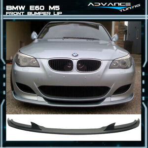 For 06 10 Bmw E60 M5 Only H Style Front Bumper Lip Spoiler Pu