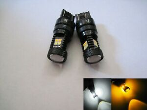 2x 7443 7444 Samsung 3535smd 40w High Power Led White Yellow Switchback