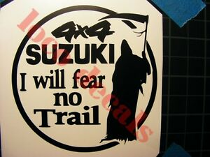 Offroad Stickers For Suzuki Samurai 4x4 Decal