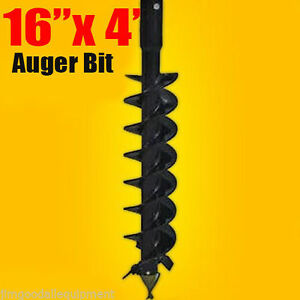 16 x 4 Auger Bit Hdc 2 56 Round For Difficult Digging Conditions Made In Usa