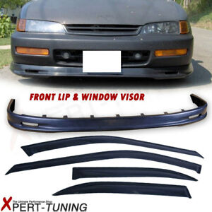 Fits 96 97 Honda Accord 4dr Mg Pp Front Bumper Lip Sun Window Visor