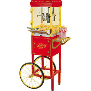 Popcorn Machine Maker W Cart Stand Pop Corn Popper Nostalgia Electrics Ccp510