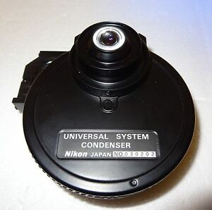 Nikon Microscope Universal Immersion Oil Dic Condenser