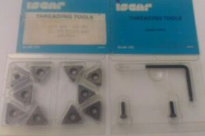 Iscar Threading Tool 3 8 Er 28 Un Ic 70 Carbide Inserts 10 Pcs Thread Lathe New