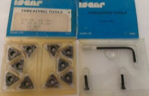 Iscar Threading Tool 3 8 Er 10 Unj Ic 70 Carbide Inserts 10 Pcs Thread Lathe New