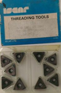 Iscar Threading Tool 3 8 Er 28 Unj Ic 20 Carbide Inserts 10 Pcs Thread Lathe New